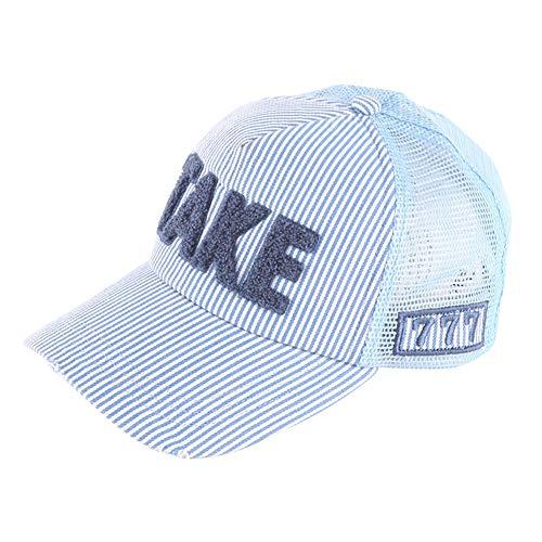 933affd2cfbd4a [LeafIn] キッズ 子供 帽子 キャップ 野球帽 メッシュ ダメージ加工 調節可能 uvカット