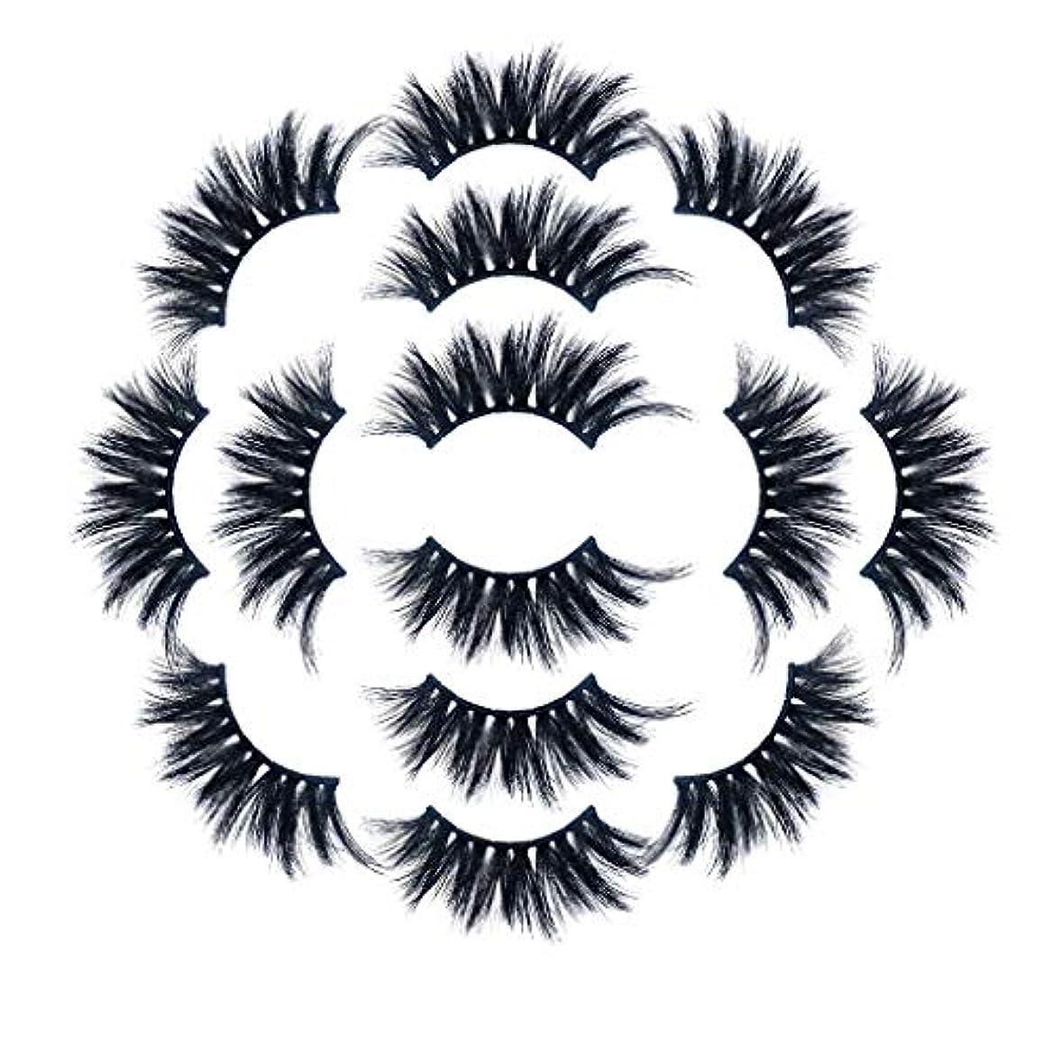 ハング細胞補正ラグジュアリー7ペア8Dつけまつげふわふわストリップまつげロングナチュラルパーティーメイク