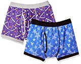 [ガロー] 2枚組 ボクサーブリーフ 総柄/アウトゴム ボーイズ 紫・青 日本 160 (日本サイズ160 相当)