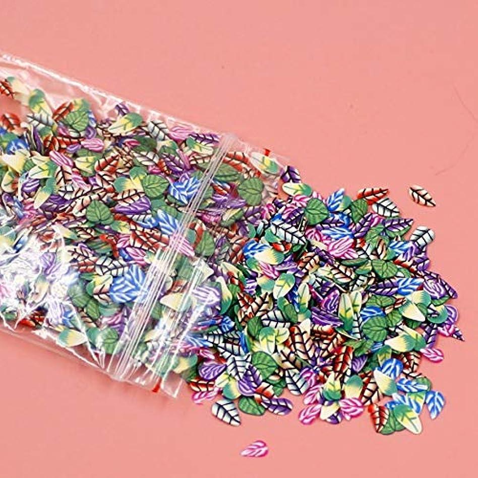 平らな筋肉のIntercorey 1000ピース/セット3dネイルアートステッカーフルーツスターネクタイ花ソフトセラミックdiyスライス小さな装飾装飾ネイルデカール