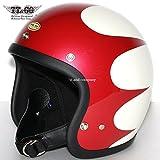 TT&CO. スーパーマグナム スキャロップ スモールジェットヘルメット SG/DOT 規格品 アイボリー