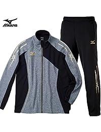 MIZUNO ミズノ ウォームアップシャツ&パンツ [メンズ] 32MC501005-32MD501009 /上下 XLサイズ グレー杢×ブラック