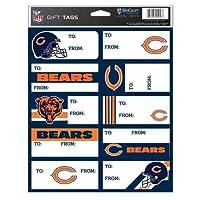 NFL Chicago Bearsギフトタグ、チームカラー、1サイズ