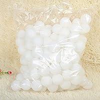 Lautechco 卓球ボール ピンポン玉 40mm レジャー 練習 用 ロゴ無し 50個 セット (ランダムカラー)