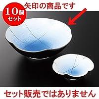 10個セットコバルト銀彩 梅型刺身鉢 [ 14.8 x 4.4cm 230g ] 【 特選刺身 】 【 料亭 旅館 和食器 飲食店 業務用 】