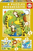 Wild Animals progresive puzzle 12-16-20-25pcs / 野生動物Progresiveパズル12-16-20-25pcs