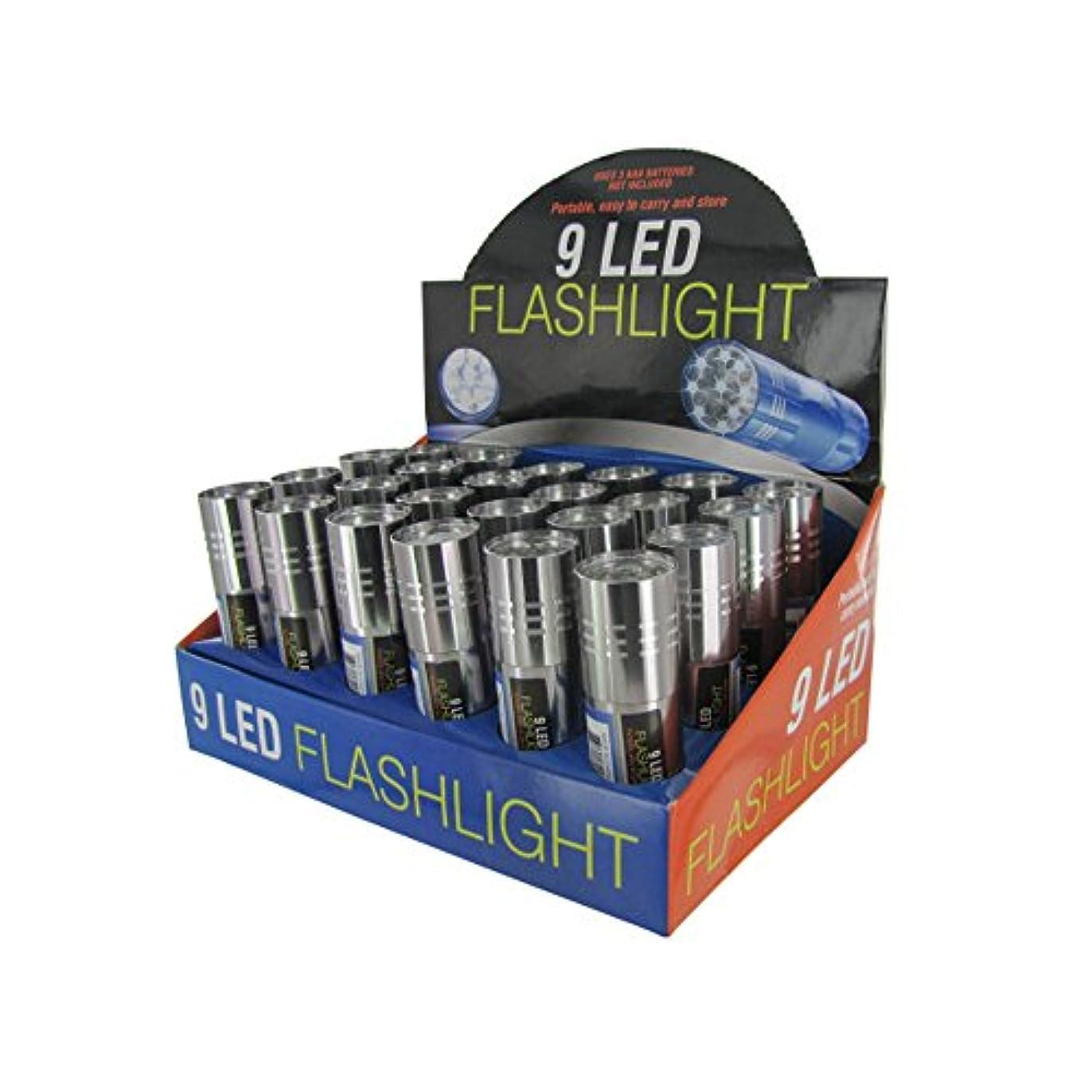 相談パースブラックボロウペデスタル9-LED Flashlight Display Case by bulk buys
