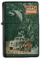 Pocket Vintage Windproof lighter ライター Brushed Oil Refillable Oldtimer Africa ADAC