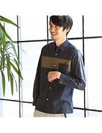 コーエン(メンズ)(coen) タイプライターチェスト切り替えロングスリーブシャツ