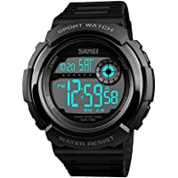 Men's Multifunction Quartz Digital Sport Watch Countdown Alarm EL Light Waterproof Watch for Men