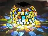 BlueField ガーデンライト LED ステンドグラス ビーチグラス ソーラー 夜間自動点灯