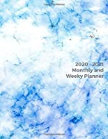2020 - 2021 Monthly and Weekly Planner: Awesome Space Marble Design Daily Weekly Monthly 2020-2021 Planner Month Calendar Schedule Organizer  (2020-2021 Pretty Planners) 8.5 x 25