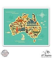 """オーストラリアマップ旅行–ビニールステッカー防水デカール 12"""""""