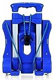 ARARAGI 超コンパクト (39cm) 折りたたみ ワイド キャリーカート 固定ロープ付 + 便利な収納ふくろ付タイプ (ブルー+収納ふくろ付タイプ)