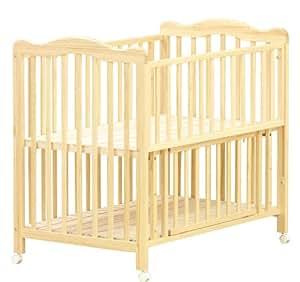 大和屋 アネシス ベビーベッド ナチュラル シンプルで床板が高めでママの腰にも負担が掛かりにくい設計