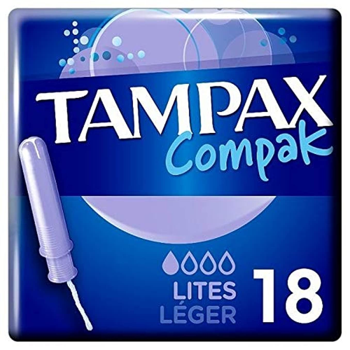 窒息させる科学者合金[Tampax] タンポンのCompak Liteのアプリケータタンポンシングル18Pk - Tampax Compak Lite Applicator Tampon Single 18PK [並行輸入品]