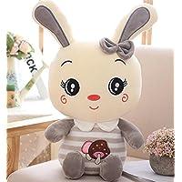 HuaQingPiJu-JP フラッフィー35cmウサギぬいぐるみ柔らかい動物のキノコのウサギのおもちゃのぬいぐるみ(グレー)