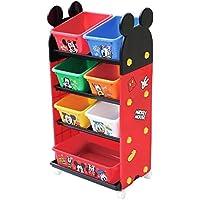 錦化成 おもちゃ箱 ミッキーマウス トールトイステーション レッド (R-fri)