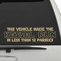 """ミレニアム・ファルコンStar Wars車デカール、Die Cut Vinyl Decal for Windows車、トラック、ツールボックス、ノートパソコン、ほぼすべてmacbook-ハード、滑らかな表面 4"""" H x 14"""" W シルバー Titans-Unique-Design-110829"""