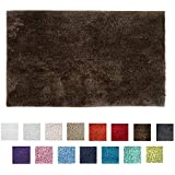 Bambury Microplush Bath Mat Large Bath Mat, Large, Walnut