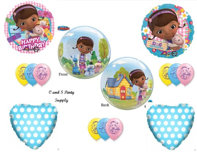 Doc McStuffinsバブルHappy BirthdayパーティーBalloons Decorations Supplies by Anagram