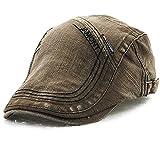 (ムコ) MUCO キャスケット ハンチング 帽欧米風 オシャレ ウォッシュ カジュアル 調節可能 アウトドア ゴルフ プレゼント メンズ レディース(6カラー) green