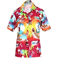 HAPPY BAY V Neck Women's Shirt Classic Palm Tree Collar Button UP Hawaiian Shirt