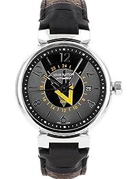 [ルイヴィトン] LOUIS VUITTON 腕時計 Q1D310 タンブール VVV オートマティックGMT グレー&ブラック文字盤 [中古品] [並行輸入品]
