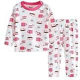 ホーム乳児パジャマで Hooyi 2018 の赤ちゃん女の子カップ服ピンク セット (6-12months)