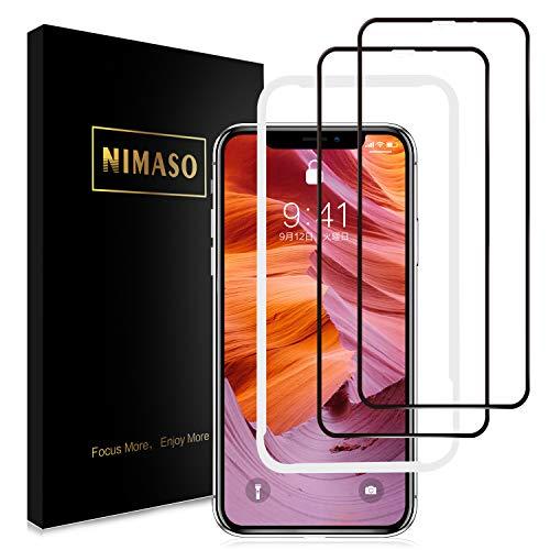 【2枚セット】Nimaso iPhoneXS Max 用 全面保護フィルム液...