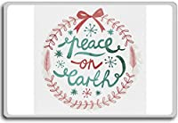 Christmas Wreath (Peace On Earth) - motivational inspirational quotes fridge magnet - 蜀キ阡オ蠎ォ逕ィ繝槭げ繝阪ャ繝