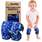 Baby Knee Pads for Crawling (2 Pairs)   Protector for Infant, Toddler, Girl, Boy (Ocean Camo)