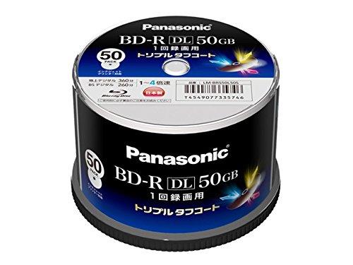 Panasonic 録画用4倍速ブルーレイディスク片面2層50GB(追記型)スピンドル50枚 LM-BRS50L50S【WEB限定】 -