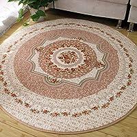 GLYY 洗える円形 フランネルラグカーペット、丸いマット、床暖房対応、直径 180cm 滑らない、折り畳み可能、ラグ 丸いカーペット 円形マット マイクロファイバー柔らかい ラグマット 北欧 絨毯、防ダニ、低反発、全シーズン 適用 ベージュ