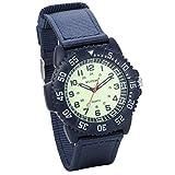 JewelryWe 腕時計 スポーツ アウトドア  カジュアル クオーツ時計 防水 (ブルー) 合金 誕生日 プレゼント 子供の日 ギフト