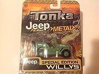 Tonka Jeep Brand Metal Diecast Bodies Jeep Willys Military Green [並行輸入品]