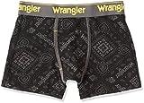 (ラングラー)Wrangler デニム調 バンダナ柄プリント ボクサーブリーフ 前開き 905 81010 49 クロ L