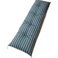 当店オリジナル 熟練職人 手作り 3連長座布団 (グリーン(縞))