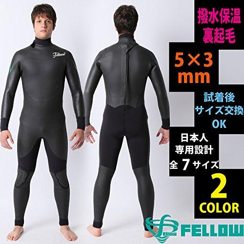 [해외]세미 드라이 슈트 잠수복 W 목 세미 드라이 잠수복 FELLOW 최신 모델 5   3mm 보온 기모 소재 발수 기모 방수 이너 장비 일본 규격 세미 드라이 서핑 잠수복 5mm/Semi-dry suit wetsuit W-neck semi-dry wetsuit FELLOW latest model 5 3 mm warming...