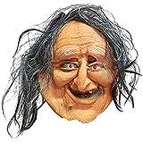 ハロウィーンのホラースリラーのジェルマスク幽霊の祭りの雰囲気が整えるグッズ醜い老婦人のマスク