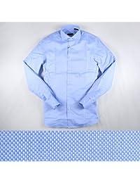 GUIDUCCI 長袖シャツ GU0011 blue 40 12577BL【A12592】 グイドゥッチ [並行輸入品]