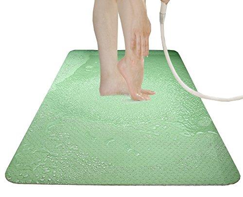 サンコー お風呂におくだけ 両面ずれにくい加工 お風呂洗い場マット ロング 60×120cm グリーン AF-45