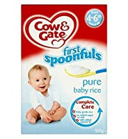 Cow & Gate First Spoonfuls Pure Baby Rice from 4-6m onwards 100g - 4~6メートル以降の100グラムから牛&ゲート最初の匙純粋な赤ちゃんのお米 (Cow & Gate) [並行輸入品]
