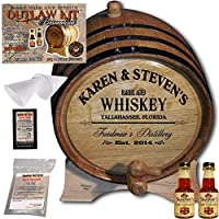 Personalized Outlawキット( Irish Whiskey )からAmericanオークバレル–デザイン063: Barrel Aged Whiskey 2 Liter