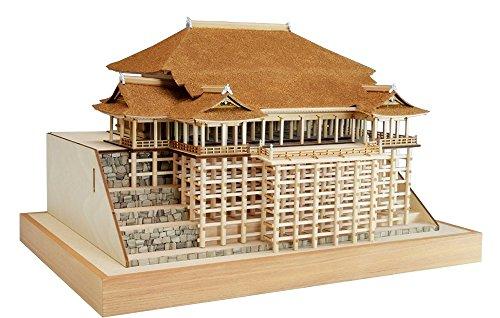 ウッディジョー 1/150 清水寺 本堂 舞台 木製建築模型 組立キット