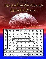 Massive Print Word Search Unfamiliar Words