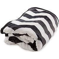 mofua ( モフア ) 毛布 プレミアムマイクロファイバー plus ジャギー柄 シングル ブラック 558801Q7