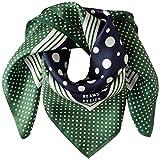 [ビームス デザイン] スカーフ シルク グリーン レディース 50605505B 日本 52cm×52cm (FREE サイズ)
