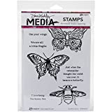 "Dina Wakley Media Cling Stamps 6""X9""-Scribbly Insects (並行輸入品)"