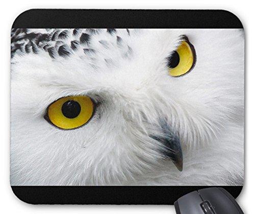 シロフクロウの目のマウスパッド:フォトパッド*( 世界の野生動物シリーズ )